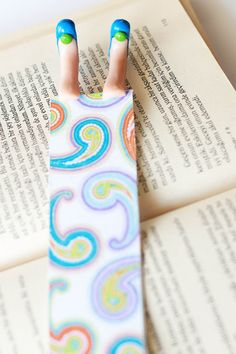 Blue Cute Shoes-Bookmark by NanayBookmarks on Etsy