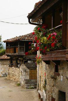 Spain, Asturias, Teverga, Horreos