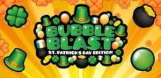 Bubble Blast St Patrick's Day Android Game Description: The game, Bubble Blast St. Patrick's Day is more than just poppingthe bubbles. It is all about creating chain reactions to pop all given items. In this St. Patrick's Day version you can choose whatfestive item you want to pop. You can select any item from pots of gold and shamrocks also from Irish hats or balloons.