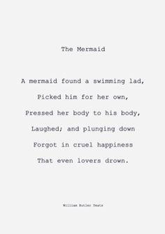 W.B. Yeats - The Mermaid.