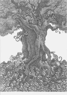 Víctor Rivas Ilustrations: Original: Evil Tree
