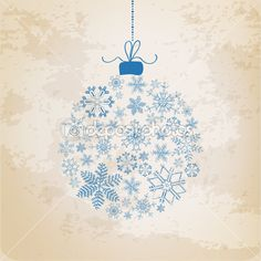 Christmas Ball made from Vintage Snowflakes - Christmas Vector