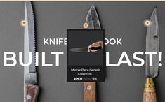 This responsive theme is intended for creating a knife-oriented online store. Cabinet Space, Website Design Inspiration, Templates, Store, Nice, Ideas, Closet Space, Models, Stenciling