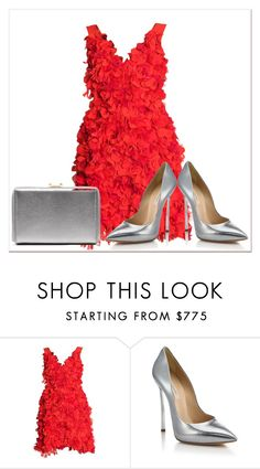 """Hot Red Dress"" by delucia ❤ liked on Polyvore featuring Parlor, Casadei, women's clothing, women, female, woman, misses and juniors"