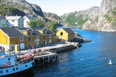 Das Fischerdorf Nusfjord, Lofoten, Norwegen