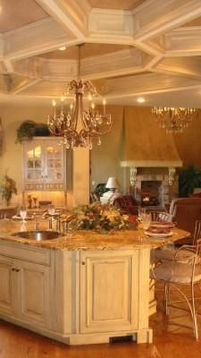 Love the idea of having a chandelier in the kitchen!  All I need now is a big kitchen which would need a big house, which would need a man with money........... perhaps I should settle for a candle.
