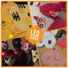 Our Light-up LED Halloween mask project was so fun! I love sewing with the kids.