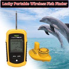 Blueskysea Lucky FFW1108-1 100m Waterproof Portable LCD Display Wireless Sensor Fish Finder Alarm Fishfinder 40M/130FT Sonar River…