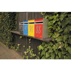 Waterproof, lockable, front opening letterbox made in NZ. Can be mounted on a pole, fence or solid wall. Zincalume casing with designer colours available. Box Design, House Design, Timber Fencing, New Set, Mailbox, Exterior, Colours, Garden, Home Decor