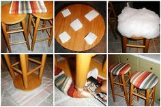 New Seats for Friends: How to Cover Bar Stools {Tutorial}