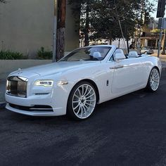 White on White Rolls Royce Dawn ✨ - @theclassypeople  Check out our friends @theclassypeople  Photo by @rdbla  #LuxuryLifestyleMagazine