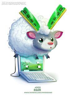 Daily Paint Kangaroot by Cryptid-Creations on DeviantArt Cute Animal Drawings Kawaii, Kawaii Drawings, Cute Drawings, Pretty Animals, Cute Funny Animals, Cute Creatures, Mythical Creatures, Animal Puns, Cartoon Art