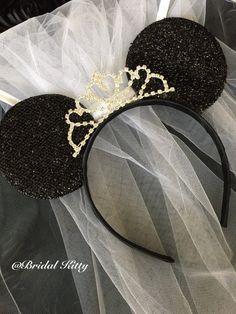 Disney Mickey Minnie Mouse Wedding Bride Ears Headband ...