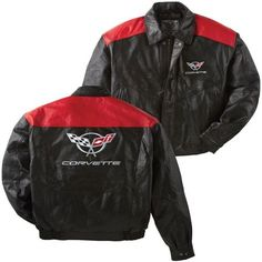 C5 Corvette Black and Red Lambskin Jacket