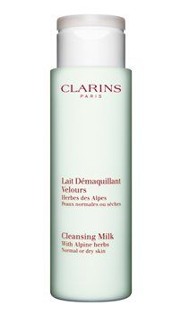 Clarins Cleansing Milk Normal Or Dry Skin Clarins Cleansing Milk With Alpine Herbs Normal or Dry Skin A velvety light textured emulsion in palest blue, with a fresh natural fragrance and a similar pH to the skin. It leaves skin thoroughly cle http://www.MightGet.com/january-2017-12/clarins-cleansing-milk-normal-or-dry-skin.asp