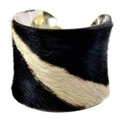 cowhide covered bracelet!