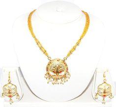 Lac Jewelry / Rajasthani Style Indian Costume Jewelry / AZINLC023-GLD Arras Creations http://www.amazon.com/dp/B00IFEW5PG/ref=cm_sw_r_pi_dp_gMAjub02TN2HW