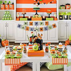 Colorful Halloween party
