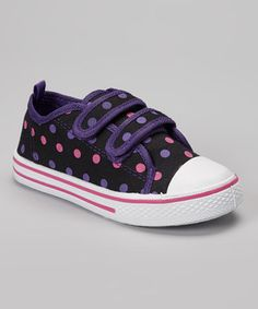 Look what I found on #zulily! Chatties Black Polka Dot Sneaker by Chatties #zulilyfinds