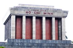 The mounument to Ho Chi Minh in Hanoi Vietnam