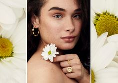 Page 1 of the lookbook Daisy Jewellery, Jewelry, Leather Accessories, Malachite, Delicate, Pearl Earrings, Spring Summer, Jewlery, Pearl Studs