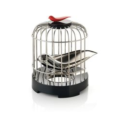 Hong Kong's Alan Chan the Alessi Tea Matter Melodic Tea Strainer - Bird-strainer sings when picked up! Tea Strainer, Tea Infuser, Cool Kitchen Gadgets, Cool Kitchens, Kitchen Stuff, Awesome Gadgets, Awesome Kitchen, Kitchen Tools, Kitchen Dining
