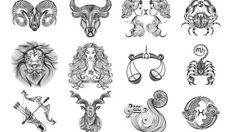 Discover over 100 million Stock Photos and Illustrations Stock Photos , photo store , video stock , Illustrations. Twelve vector black and white signs of the zodiac on a white background Free Vector Images, Vector Free, Aries And Scorpio, Astrological Symbols, Zodiac Tattoos, Photo Store, 12 Signs, Scorpion, How To Draw Hands