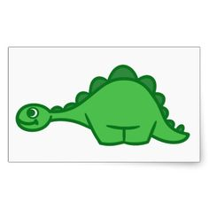 Little Dinosaur Stegosaurus Stickers