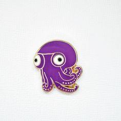 Moora the Stubby Squid Enamel Pin by DearPlum on Etsy