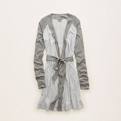 Aerie Softest Sleep Robe ($40) ❤ liked on Polyvore featuring intimates, robes and medium heather grey