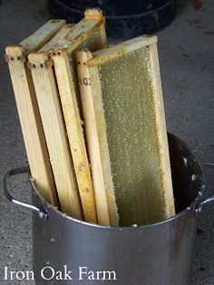 Here's a simple way to pull out the wax and honey from your frames without an extractor.