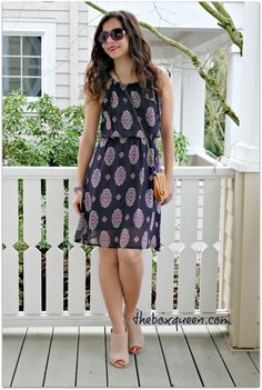 STITCH FIX FEBRUARY 2016 REVIEW, Stitch Fix Outfit Idea, Stitch Fix Style, Papermoon Fatima Dress