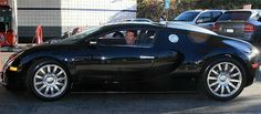 Simon Cowell in his Bugatti