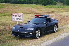 Dodge Viper Police Car - how cool is that?!