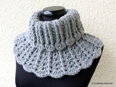 CROCHET Neck Warmer PATTERN, Chunky Crochet Scarf, Easy DIY Crafts Gift For Her…