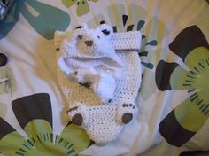 Ravelry: trishamore's Snuggly baby bear blanket Crochet Baby Costumes, Bear Blanket, Ravelry, Knit Crochet, Dinosaur Stuffed Animal, Projects To Try, Dreams, Sewing, Knitting