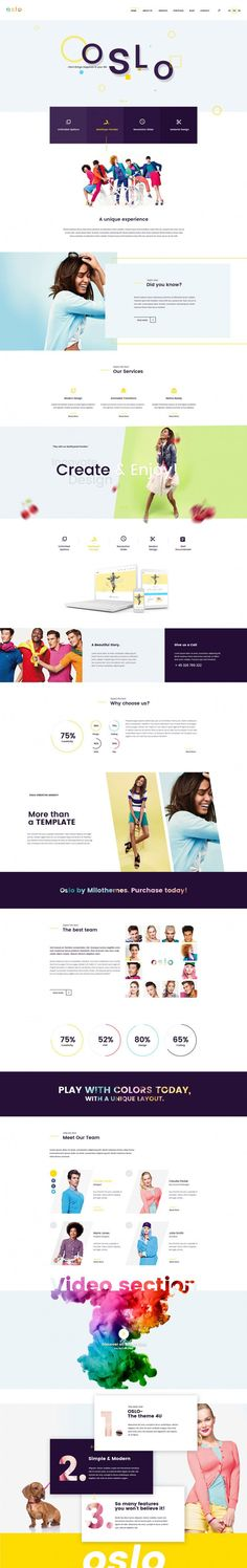 Oslo – Creative Agency Portfolio in Web design