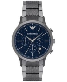 42cc3e8f2479b2 Emporio Armani Men s Chronograph Renato Gunmetal Stainless Steel Bracelet  Watch 43mm AR2505