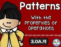 Patterns Using the Four Operations - Use this 28 page resource with your 3rd grade classroom or homeschool students. It includes math tasks, exit tickets, and I can statements on arithmetic patterns. Using all four operations (addition, subtraction, multiplication, & division), students will be able to look for and identify different patterns including those on multiplication tables. Plus this covers CCSS 3.OA.9. Click through to get yours now! $