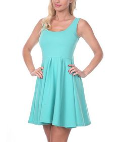 Take a look at the Mint Skater Dress on #zulily today!