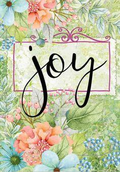 Joy Hall - SENTIMENT GARDEN, JOY Birthday Blessings, Happy Birthday Images, Choose Joy, Happy B Day, Watercolor Print, Birthday Greetings, Pretty Pictures, Flower Art, Art Quotes