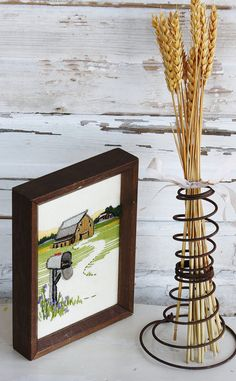 Vintage Stitched Barn Picture. Love the combination of white/rustic!