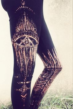 ILLUMINATE TRIBAL Leggins handpainted