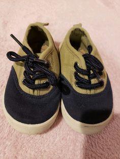 d2242e9d7f29 Oshkosh Toddler Boys Navy Tan shoe lace Sneakers casual shoe size 5   fashion  clothing