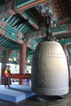 Bosingak Bell Tower was used during the Joseon Dynasty. The purpose of the bell tower was to notify the people of the opening and closing of the city gates and in case of emergencies. It resides in Seoul, South Korea South Korea Seoul, North Korea, Asia, Suwon, Travel Box, Korean Wave, Korean Traditional, Historical Sites, Cambodia