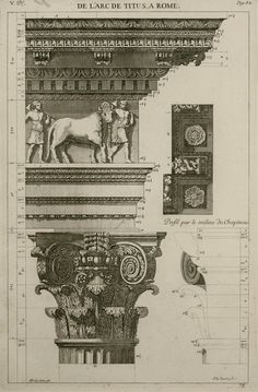 Antoine Desgodetz, Les edifices antiques de Rome dessines et mesures tres excitement, The Ancient Buildings of Rome Very Accurately Measured and Drawn New Classical Architecture, Architecture Antique, Architecture Drawings, Historical Architecture, Architecture Details, Architectural Prints, Architectural Elements, Architect Drawing, Ancient Buildings