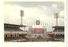 ... the exploding scorecard of Old Comiskey Park