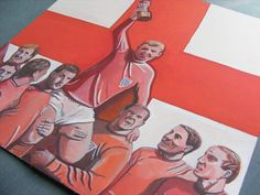 England 1966 World Cup Painting - #illustration #art #design