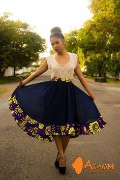 ankara styles african print skirt high 2016 - style you 7 African Print Skirt, African Print Dresses, African Dresses For Women, African Attire, African Wear, African Fabric, African Women, African Prints, African Style