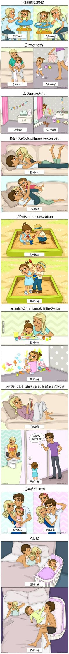 Gyereknevelés: Elvárás vs. valóság - 9 tündéri illusztrációban Minden, Kids And Parenting, Baby Kids, Funny Quotes, Funny Pictures, Darth Vader, In This Moment, Motivation, Memes